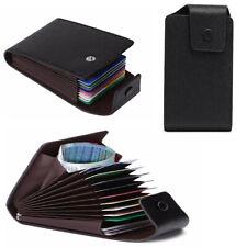 Portafoglio Uomo in pelle nero verticale porta carte di credito da tessere rfid