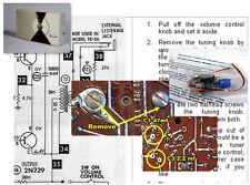 Philco T-7-126 Vintage Transistor Radio Electrolytic Capacitor Recap Kit