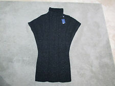 NEW Ralph Lauren Polo Cardigan Poncho Size Womens Small Black Sleeveless Sweater