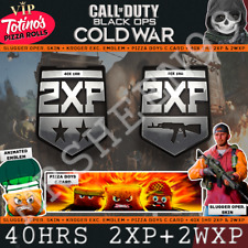 Call Of Duty Cold War 40 HOURS 2XP VIP CODE Card Operator Kroger Emblem UK Cod
