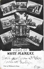 Multi Views of White Plains Westchester County NY Handsome Vintage used 1906