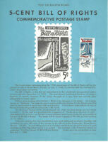 #1312 Bill of Rights Stamp Poster- Unofficial Souvenir Page Flat HC on zip