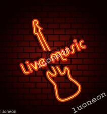 Rare LIVE MUSIC Beer Real Glass Beer Bar Handcrafted Neon Light Sign FAST SHIP