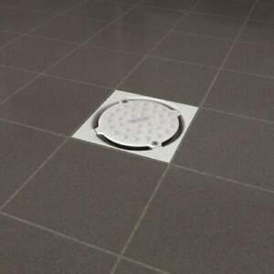 HARMER Horizontal Shower Drain for Tile Wet Rooms White Pebble Cap