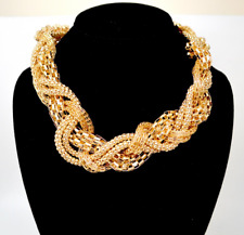 Lux Accessories Braided Multi-Chain Necklace