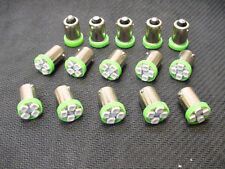 15 BRIGHT Green LED Instrument Panel Dashboard BA9S 1815 1895 Lights Bulbs Ford