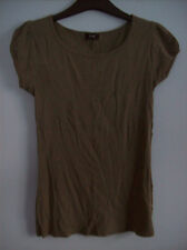 Top Ladies T Shirt Top Khaki by Florence & Fred Size 10