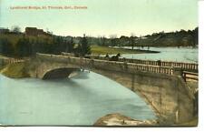 POSTCARD LYNDHURST BRIDGE ST. THOMAS ONTARIO CANADA VINTAGE 2 CENT STAMP