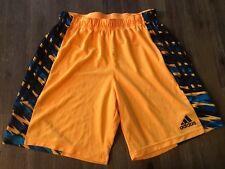 Adidas Boys Shorts, Size Medium Orange/Blue Athletic Shorts