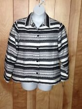 WOMEN'S ALFRED DUNNER BUTTON-DOWN JACKET-SIZE: 16