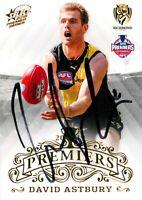 ✺Signed✺ 2019 RICHMOND TIGERS AFL Premiers Card DAVID ASTBURY