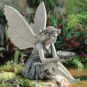 Fairy Angel Figurine Statue Garden Ornament Resin Crafts Landscaping Yard Decor