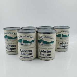 6 can Bar Harbor New England Style LOBSTER BISQUE Semi-Condensed 10.5 oz