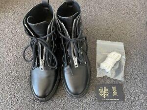 Rag & Bone Black Leather Combat Boots Size 37