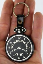 "Vintage ""IT'S REPUBLICAN TIME IN 79"" Plastic Pocket Watch Keychain Key Ring Old"