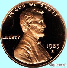 1985 S Lincoln Cent Deep Cameo Gem Proof No Reserve