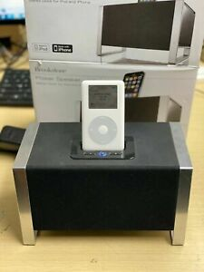 Brookstone iDesign Power Speaker Stereo Dock for iPod/IPhone with iPod 20GB