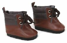 Brown Hiking Boot Shoes Boy made to fit 18 inch American Girl Doll Clothes