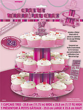 Glitz Birthday Pink Cupcake Stand Party Supplies Decoration Accessories Table