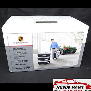 Genuine Porsche Tire Tote Set of Four Totes 986/996/987/997/991/981/718 Carrera