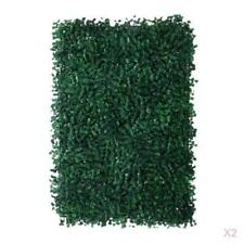 """2x Artificial Plastic Plant Grass Wall Lawn Hedge Wedding Party Decor 24x16"""""""