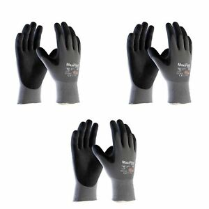 6 x size 9/ L ATG MaxiFlex Ultimate Nitrile Foam Work Gloves Breathable & Light