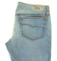 NWT DIESEL Women's Light Wash 0RZ05 Grupee Super Slim Skinny Denim Jeans 30 x 32