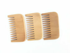 New Design Peach Wood Wide Tooth Beard Care Combs Wooden Comb Custom LOGO