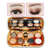 8 Colour Diamond Glitter Eyeshadow Eye Shadow Palette Makeup Cosmetic Brush Set