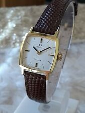 Vintage Omega Ladies Gold Plated Square Classic Stylish 60s Everyday Dress Watch