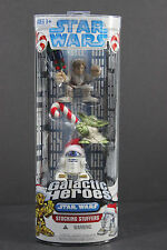 Star Wars Galactic Heroes Stocking Stuffers Luke Yoda R2D2 Holiday MISB   1213