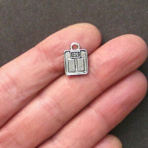 8 Scale Charms Antique Silver Tone Perfect for Any Diet Related Design - SC1203