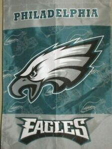 Philadelphia Eagles DOUBLE SIDED 28 x 40 HOUSE BANNER ! VINTAGE GHOSTED DESIGN !