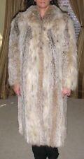 Real Canadian Lynx Fur Full Length Coat w/ Shawl Collar & Silk Lining ~$7,500