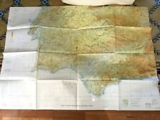Gibraltar Military Map Pilot Navigational Chart RAF Spain Badajoz Portugal