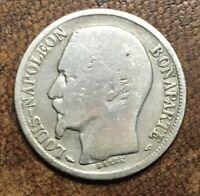 RARE - France - 1 franc 1852 - Louis-Napoleon Bonaparte - 2e République