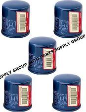 5 GENUINE HONDA-ACURA OIL FILTERS Original Equipment 15400-PLM-A01/A02 w/washer