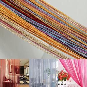 2 M String Door Curtain Bead Room Dividers Beaded Window Tassel Fringe Panel