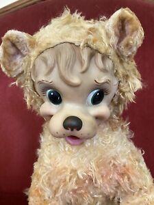 Rushton Vintage Rubber Face Plush Lion Toy Very RARE Circus