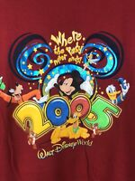 NEW RARE Vintage WDW Walt Disney World 2005 VTG Disneyland Shirt 2XL XXL 1266 67