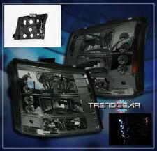 2003-2006 CHEVY SILVERADO AVALANCHE SUV LED CRYSTAL HEAD LIGHT BUMPER SMOKE 2IN1