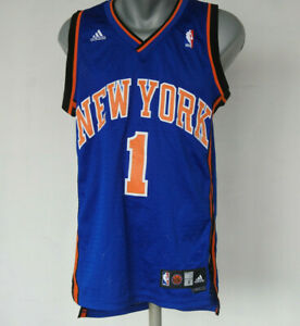 Steve Francis #1 New York Knicks Jersey Adidas Blue NBA Size S Shirt Basketball