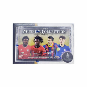 2020-21 TOPPS CHAMPIONS LEAGUE MUSEUM COLLECTION BOX (4 BASE 3 HIT & 1 PARALLEL)