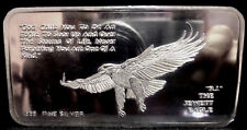 """THE JEWETTE EAGLE""- 3.7 Troy ounce. pure silver bar-rare collector's item."