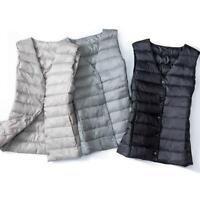 2020 Women Packable V-neck Waistcoat Down Puffer Sleeveless Jacket short Vest