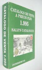 Catalogo de Venta a Precio Fijo 1995 Philatelic & Numismatic Catalog in Spanish