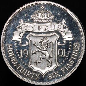 1901 | Cyprus Edward VII Patina Model 36 Piastres 'Silver Piedfort' | KM Coins