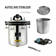 NEW! 18L Steam Autoclave Sterilizer High Pressure Tattoo Dental Lab Equipment