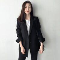 Fashion Women Ladies Long Sleeve Black Color Suit Slim Blazer Work Wear Jacket