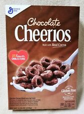 CHOCOLATE CHEERIOS Cereal 11.25oz 318g Box REAL COCOA Gluten Free General Mills